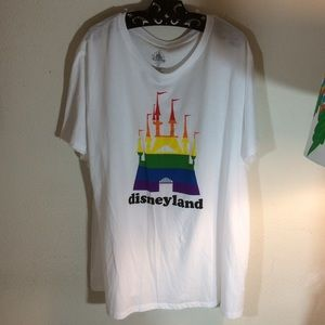 Disney Tops - Disney Disneyland Rainbow Castle Tee 2X